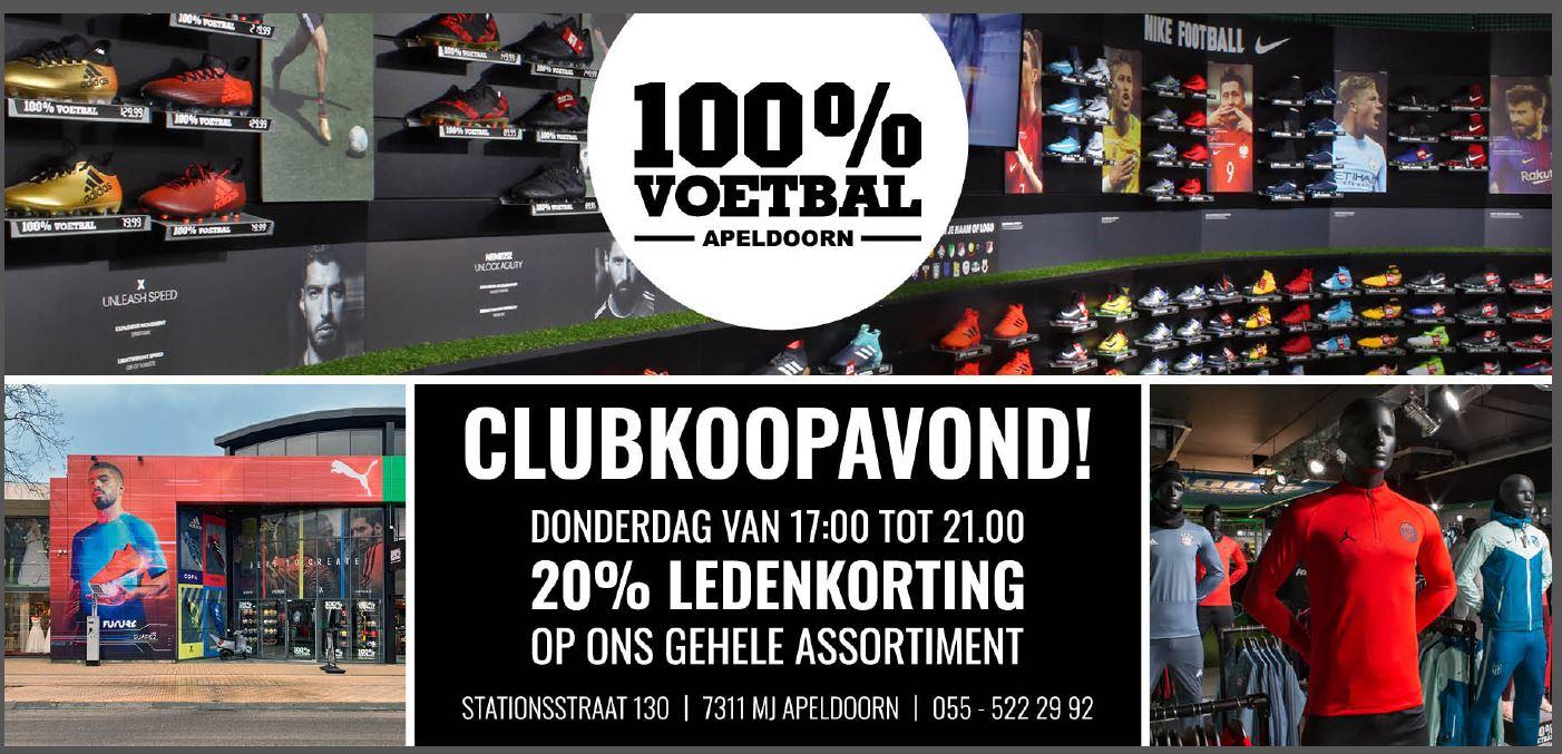 Club Koopavond met 20% korting bij 100% voetbal