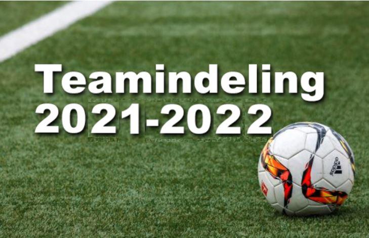 Teamindeling 2021-2022