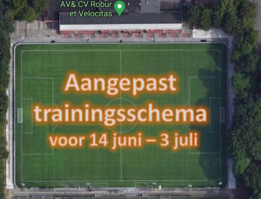Trainingsschema 14 juni - 3 juli