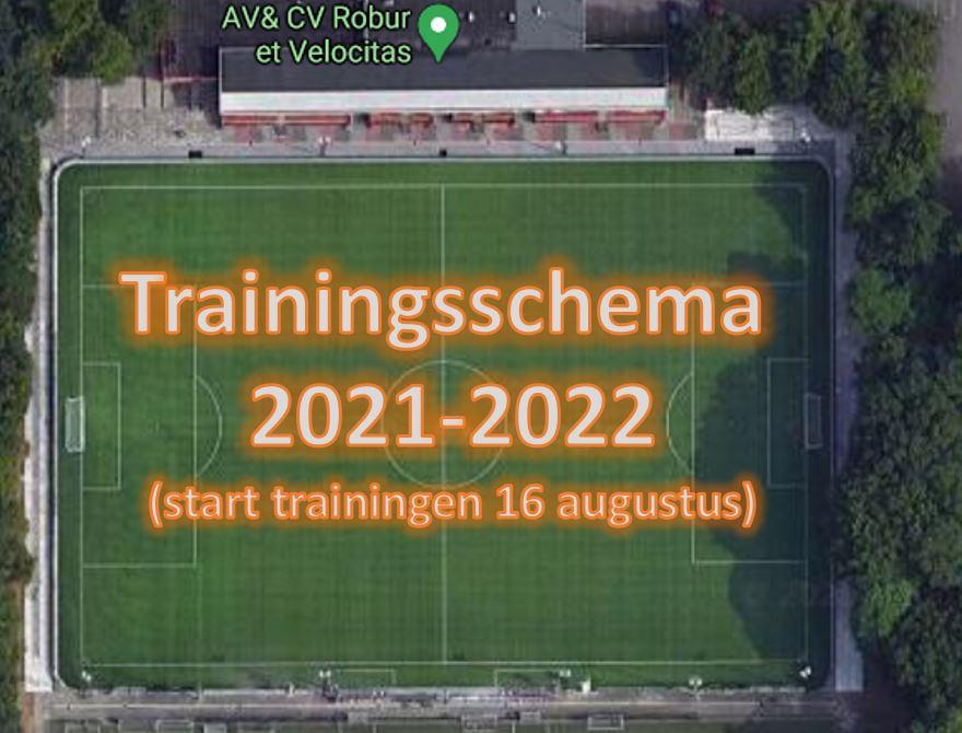 Trainingsschema 2021-2022 (per 8 juli)