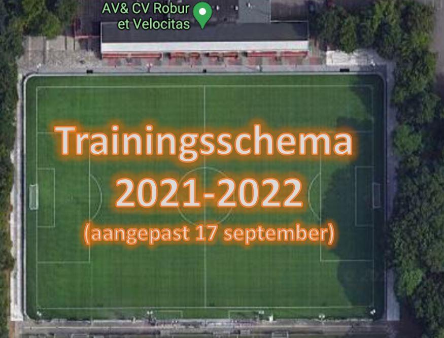 Trainingsschema per 17 sept
