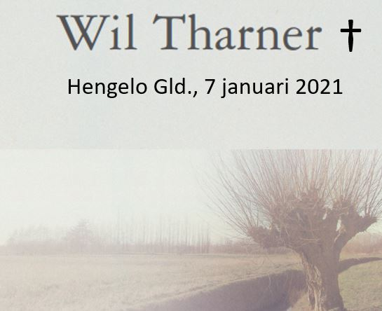 Wil Tharner overleden