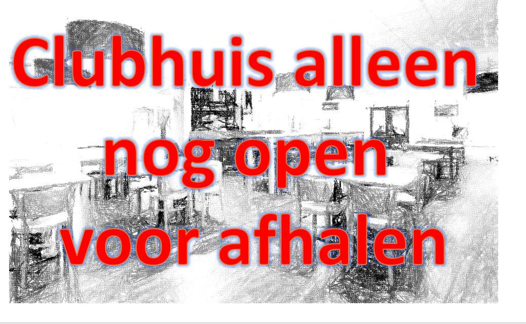Clubhuis alleen open voor afhalen