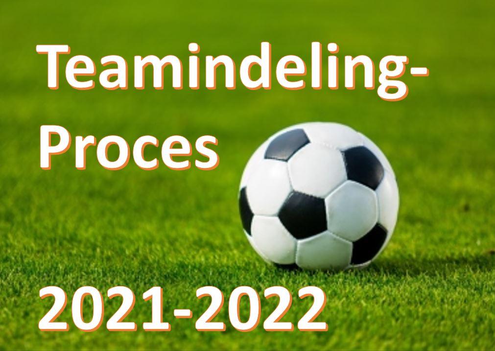 Proces teamindeling 2021-2022